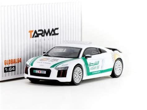Tarmac Works Global 1 64 Audi R8 V10 Plus German Polizei tarmac works global 1 64 audi r8 v10 plus dubai tarmac works
