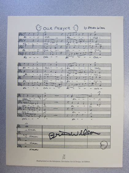 Tas Your Smile Is Charity Limited Edition charitybuzz limited edition lead sheet to our prayer from