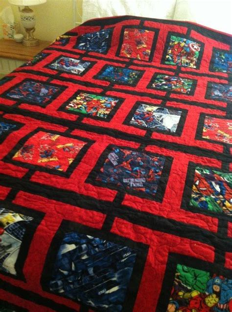 pattern for spiderman quilt spiderman quilt and quilt patterns on pinterest
