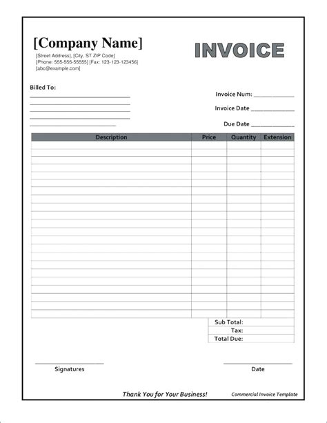 Fillable Invoice Template Pdf Apcc2017 Free Fillable Form Templates