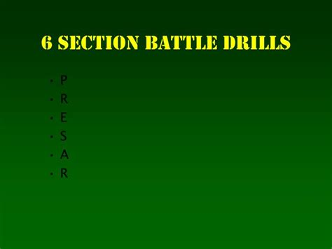 Ppt The 6 Section Battle Drills Powerpoint Presentation