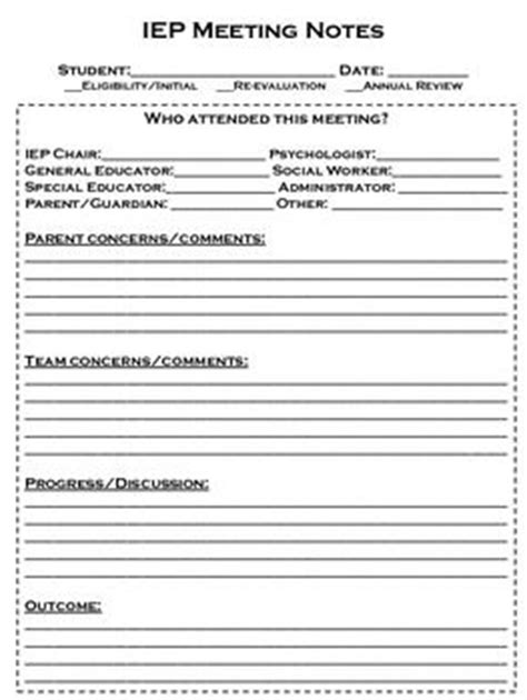 parent meeting report template 17 best images about my description says