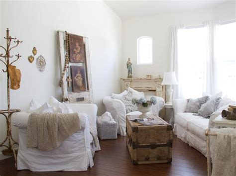 shabby cottage home decor shabby chic living rooms hgtv