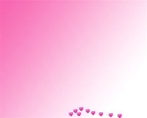 pink hearts gradient power point backgrounds pink hearts