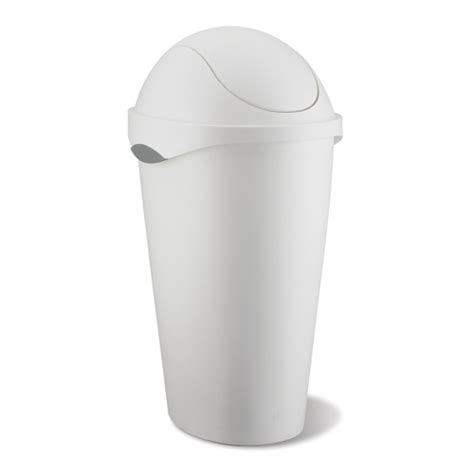 swing top trash can umbra swing top trash can white in kitchen trash cans