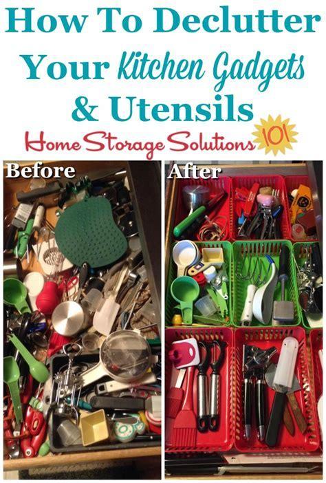How To Declutter Utensils, Knives & Kitchen Gadgets