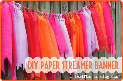 Decorating Ideas With Crepe Paper Streamers A Thrifter In Disguise January 2014
