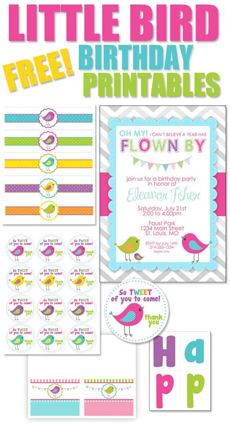 free printable bird themed birthday with free printables how to