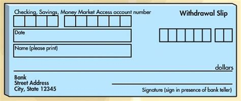 withdrawal slip template withdrawing from a savings account on banking