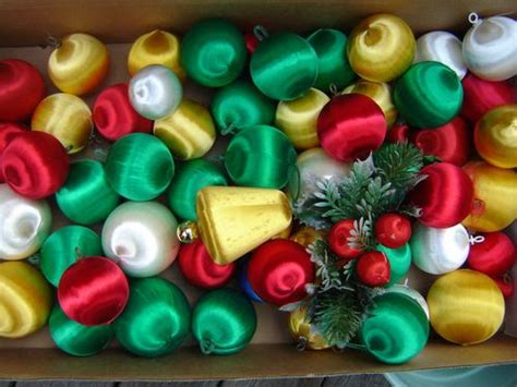 80s christmas decorations satin ornaments no 70 s tree was complete without em memory 1960 s