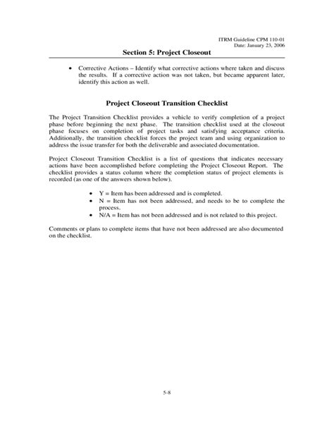 project closeout project closeout template virgina free