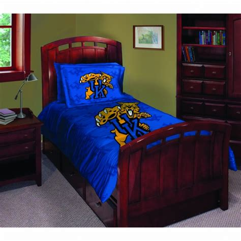 Kentucky Wildcats Ncaa College Twin Comforter Set 63 Quot X 86 Quot Of Kentucky Bedding Sets