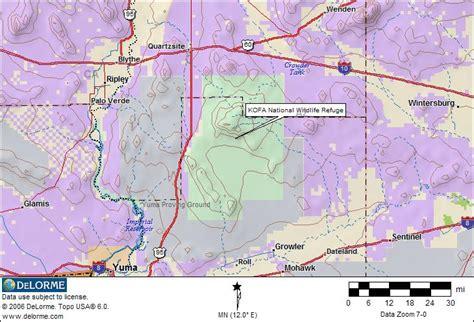 arizona blm land map arizona rv cing kofa rv cing