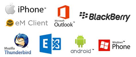 clients that support the exchange email and office 365 technologies