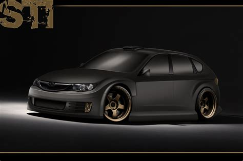 subaru matte black kofelstofel s profile autemo com automotive design studio