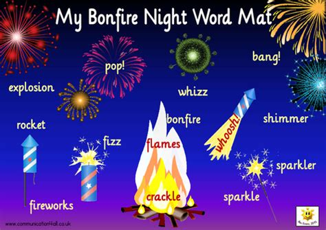 themes in the story night bonfire night word mats by bevevans22 teaching resources