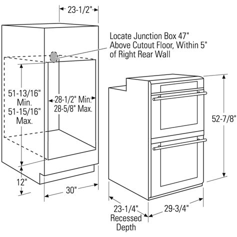 double oven cabinet width cabinet dimensions for wall oven savae org
