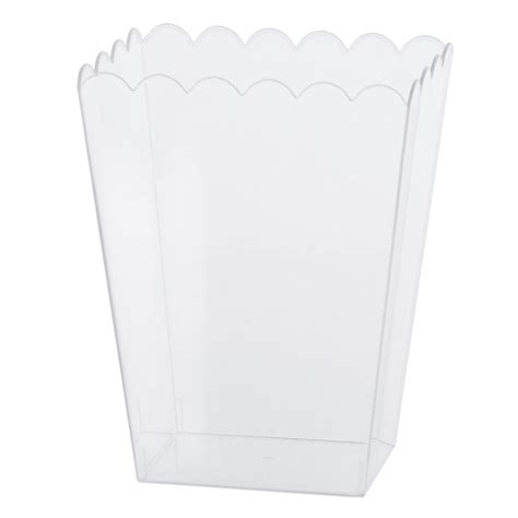 buffet plastic containers clear large plastic scalloped container 19 5cm 12 pkg amscan international