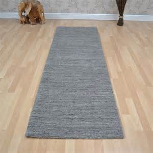 Hallway Rug Runners Plain Abrash Wool Hallway Runners In Grey Free Uk