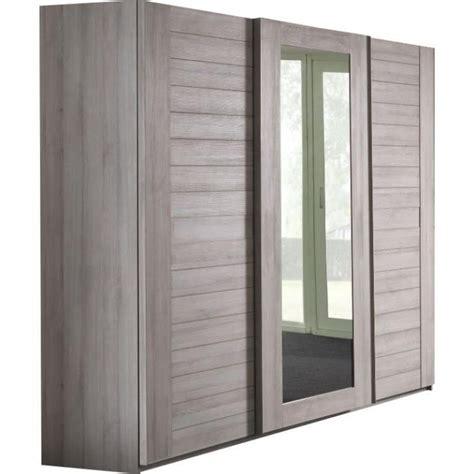 armoire de chambre adulte armoire adulte 280 cm coloris ch 234 ne gris achat vente