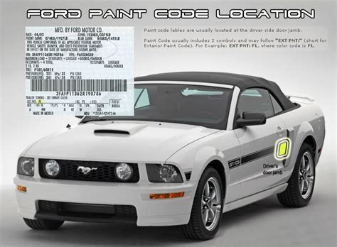 ford focus 2003 paint codes carid
