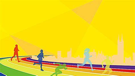 school games poster games happy athletics yellow