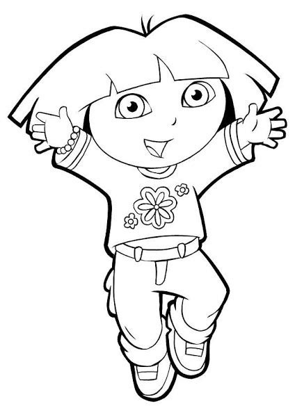 cute dora coloring pages free cute monkey coloring pages colorings net