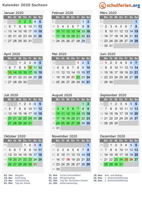 kalender  ferien sachsen feiertage