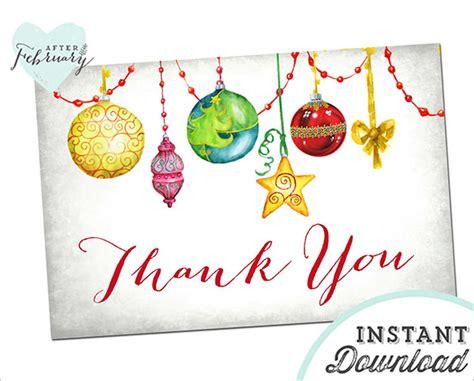 printable thank you cards christmas gift 40 christmas thank you card templates free psd eps