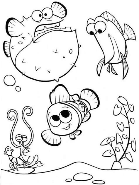 Coloring Pages Fish Nemo by Nemo Coloring Pages