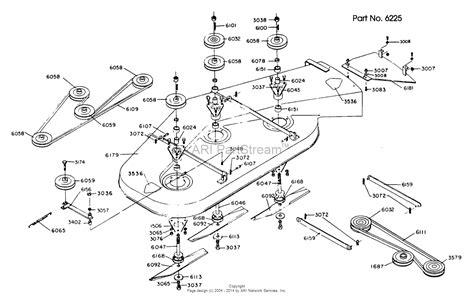 dixon mower parts diagram dixon ztr 424 1984 parts diagram for mower deck assembly