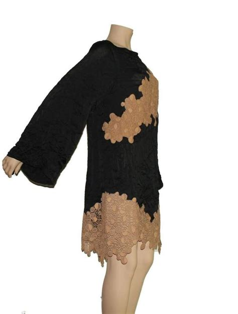 Vercase Lace Dress iconic versace black silk and lace leather dress for