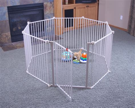 puppy play yard big metal play yard playpen baby pet enclosure steel gate large fence pen ebay