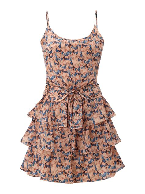 house of dereon dresses house of dereon tiered ruffle dress in multicolor coral lyst