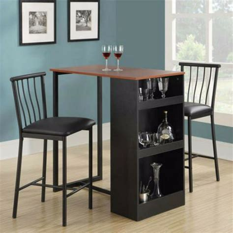 table counter height chairs bar set dining room pub stools kitchen  piece wood ebay