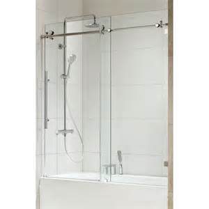 chrome shower door republic 0asbs03 trident premium 3 8 thick clear glass
