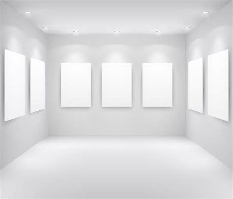 exhibition gallery template vector 2 free vector in