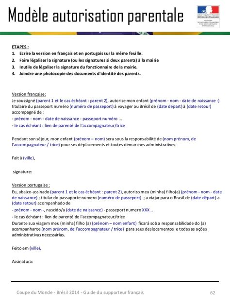 Modeles De Lettre D Autorisation Parentale Modele Autorisation Parentale Sport Document