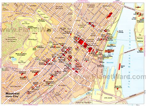 printable map montreal 14 top rated tourist attractions in montreal planetware