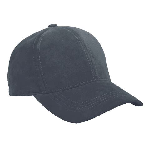 Leather Baseball Cap navy suede leather baseball cap curved visor