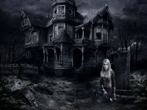 Haunted L by Haunted House Desktop Wallpapers Wallpaper Cave