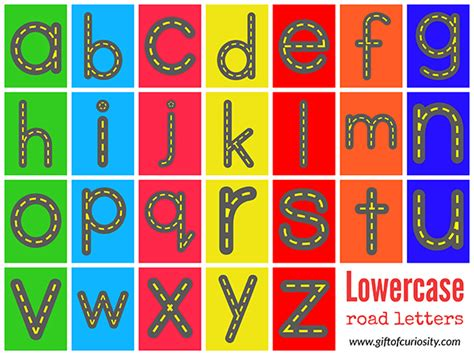printable highway letters best photos of road letters printables highway abc cards