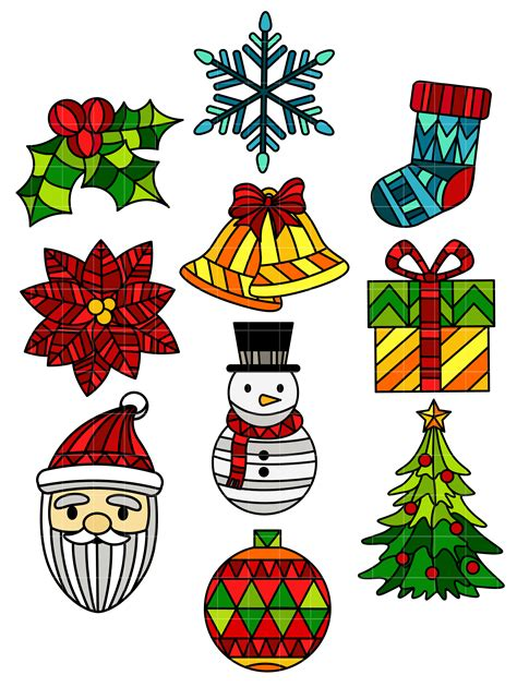 christmas glass clip art stained glass christmas set semi exclusive clip art set