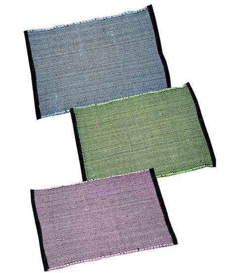 homefab india stripes cotton floor mat set of 3 buy homefab india stripes cotton floor mat set