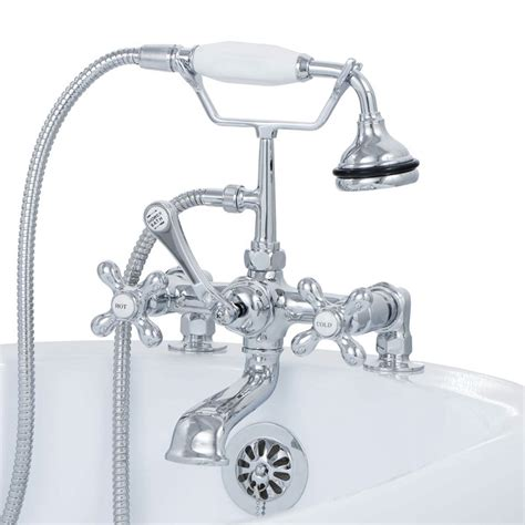 hand held shower for bathtub faucet clawfoot tub deck mount brass faucet with hand held shower