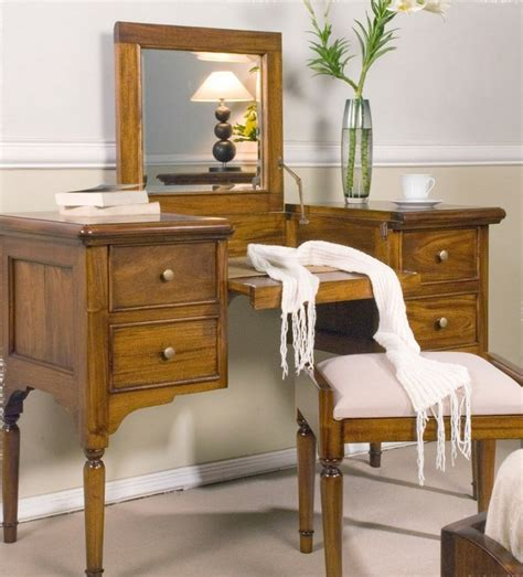 Wooden Dressing Tables With Mirror And Stool by Wooden Dressing Table With Mirror And Drawers Also Using