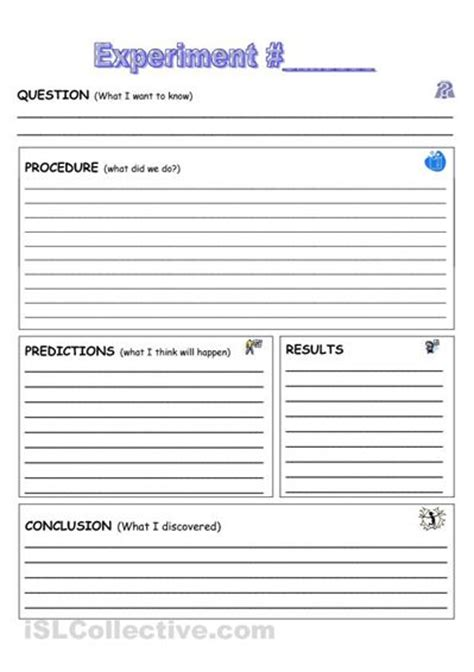 science project template science experiment documentation sheet home schooling
