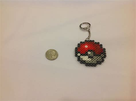 how to make a perler bead keychain pokeball keychain made from perler