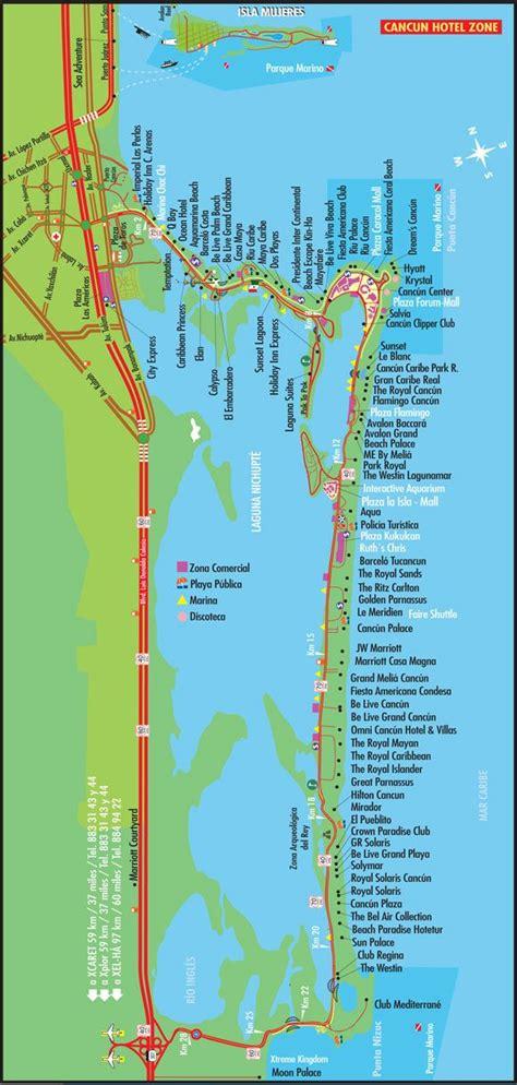 map cancun mexico best 25 cancun hotel zone ideas on cancun