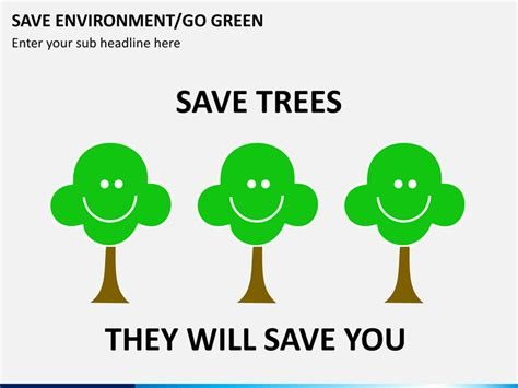 Save Environment Go Green Powerpoint Template Sketchbubble Save Environment Ppt Templates Free